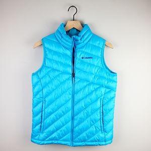 Columbia Blue Zip Puff Vest Large (14/16)